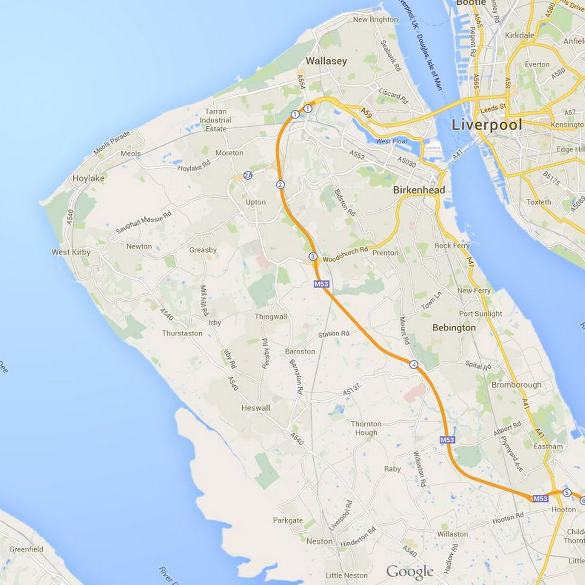 Map Of The Wirral