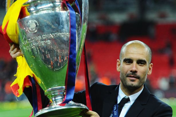 Image result for pep guardiola champions league
