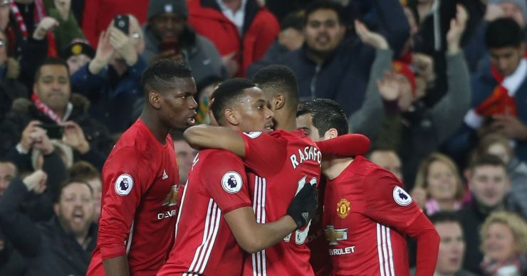 Image result for manchester united goal 2019  Arsenal legend predicts that Manchester United will beat Arsenal to Champions League spot GettyImages 630720706