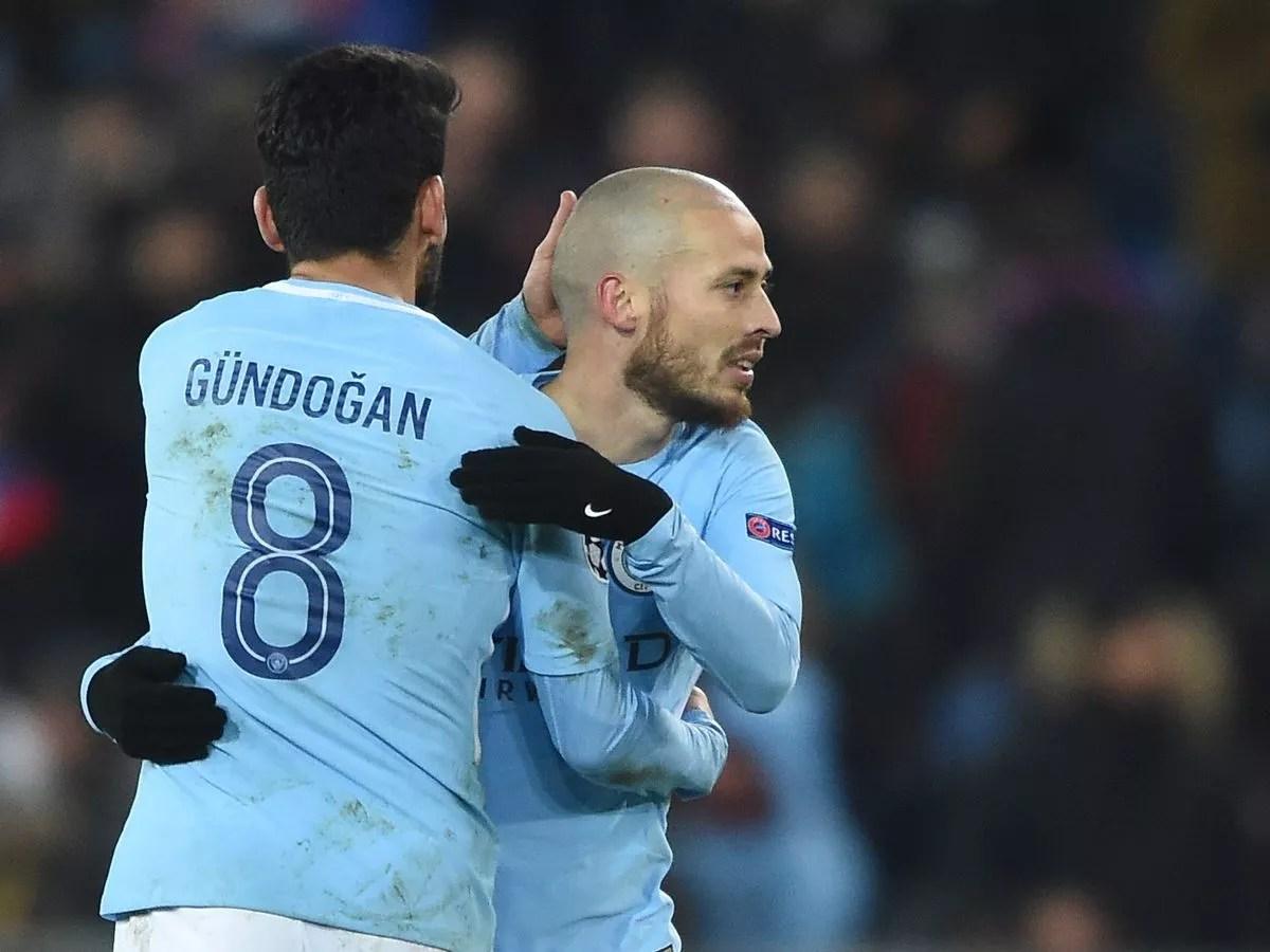 Man City stars Ilkay Gundogan and David Silva go head to head and ...
