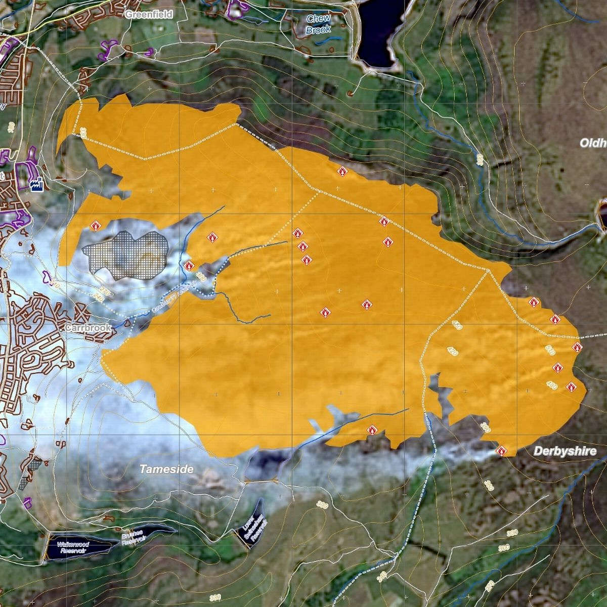 View fire maps or request assistance. Satellite Image Shows Detailed Map Of Saddleworth Moor Blaze Manchester Evening News