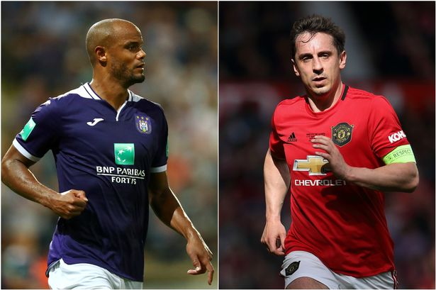 0 Collage - Vincent Kompany makes joke about Manchester United great Gary Neville ahead of testimonial
