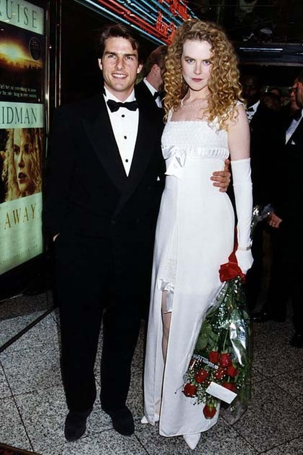 1992: Tom Cruise and Nicole Kidman attend London's premier of Far and Away.