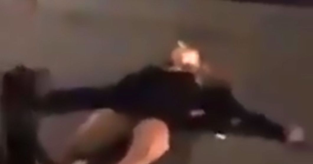 Image result for Man knocks woman out for flicking a match at him.
