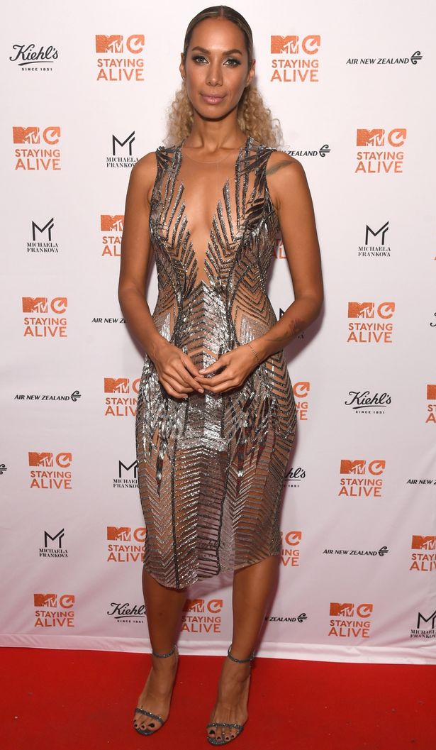 Leona wowed in this daring design (Image: Getty)