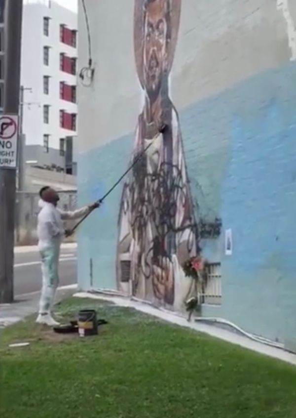 Outrage as George Michael mural defaced in Sydney after ...