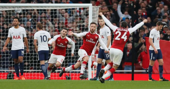 Image result for arsenal vs. tottenham
