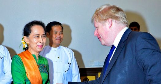 Boris Johnson doubts Myanmar leader Aung San Suu Kyi ...