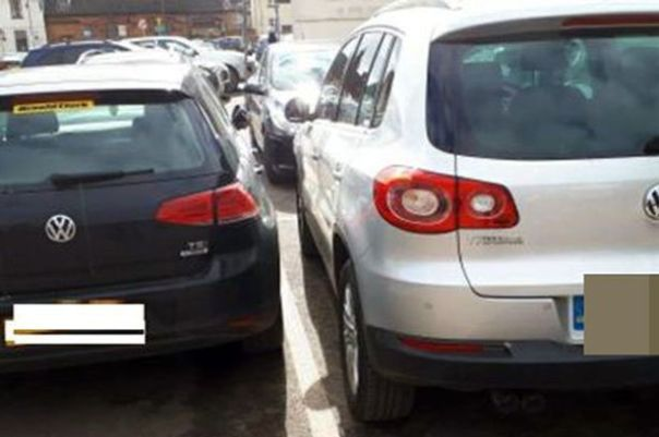 Image result for car parked really close to drivers side free image""