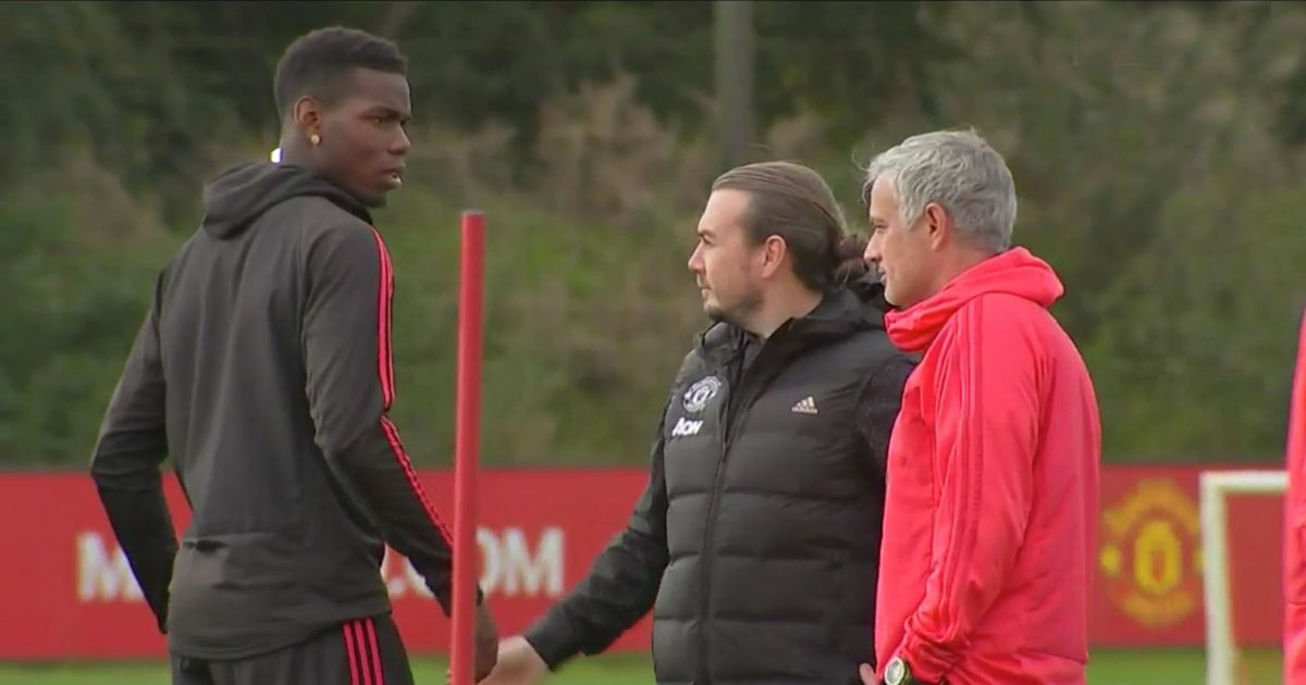 Image result for pogba mourinho bust-up