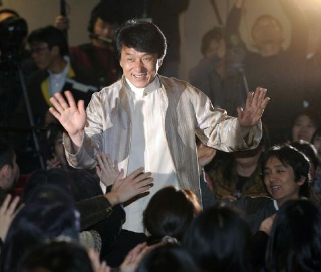 Jackie Chan Is Pictured Arriving At The Premiere Of His Movie Shinjuku Incident In