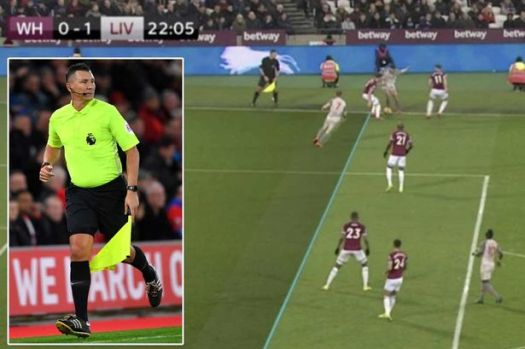 Assistant who allowed offside Liverpool goal vs West Ham ...