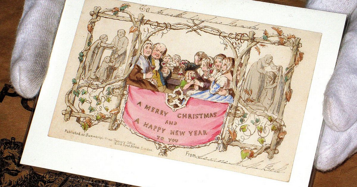 Henry Cole Christmas Card Auction One Of The First Ever