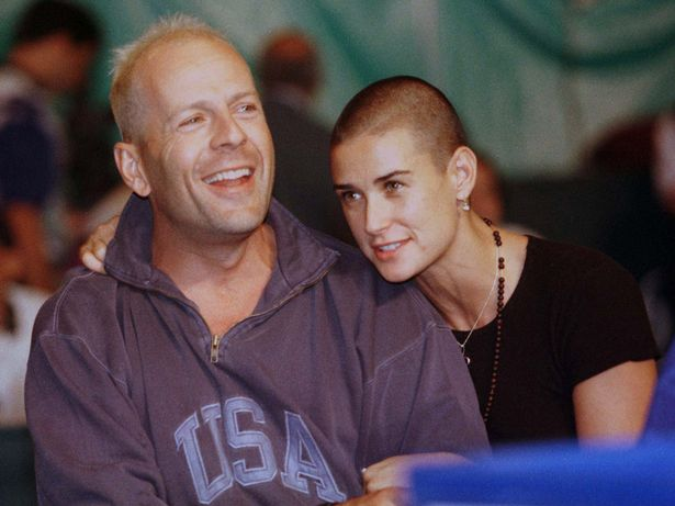 Actors and husband and wife Bruce Willis and Demi Moore