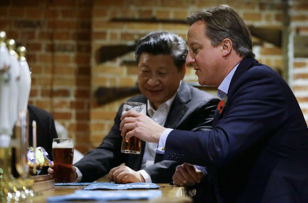 One Tory slammed the era of David Cameron's friendliness to China's President Xi Jinping