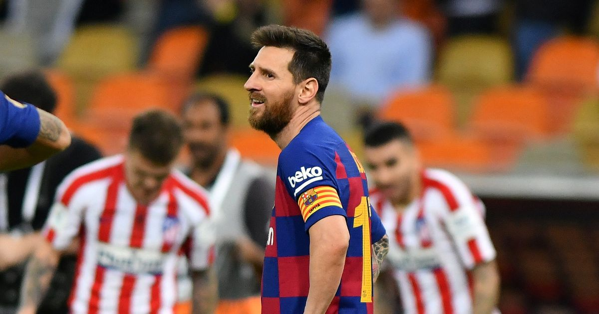 Lionel Messi fury after the collapse of Barcelona in the loss of the Atletico Madrid Super Cup