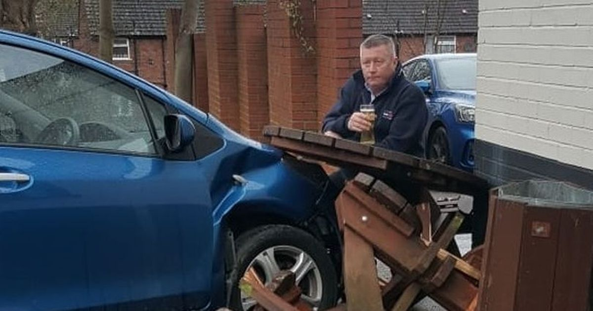 Viral hit Ronnie Pickering was pictured sipping a pint on the pub crash scene