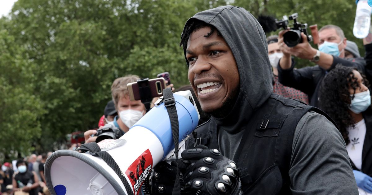 John Boyega laughs off Colston statue removal after being ...
