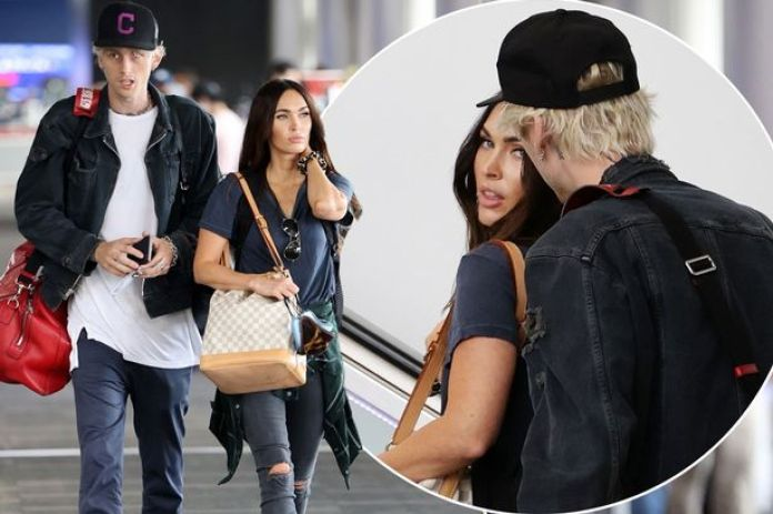 Megan Fox and Machine Gun Kelly can't keep hands off each other as ...