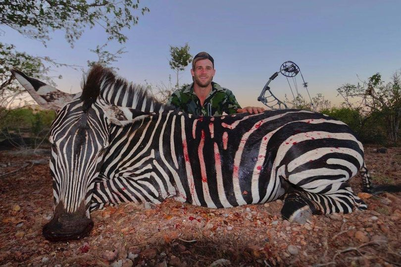 Shameless trophy hunter kills exotic animals 'because they need culling'
