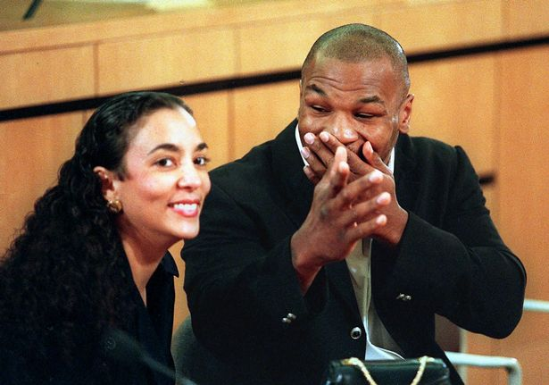 Mike Tyson with his second wife, Monica Turner