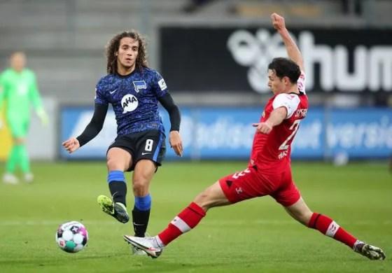 Guendouzi plays regularly for Hertha Berlin
