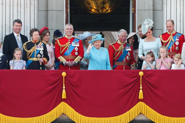 Members of the Royal Family at Trooping the Color 2019