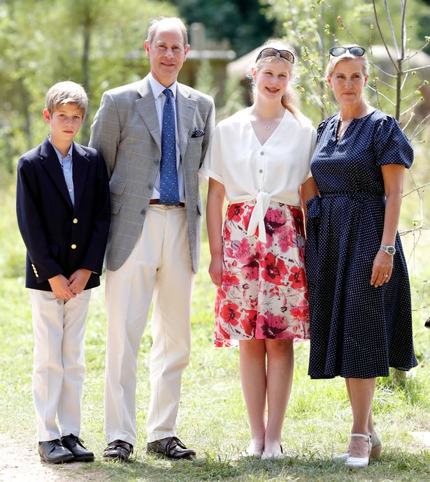 James, Viscount Severn, Prince Edward, Earl of Wessex, Lady Louise Windsor and Sophie, Countess of Wessex