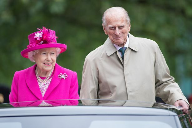 """The Queen and Prince Philip during """"The Patron's Lunch"""" celebrations for her 90th birthday"""