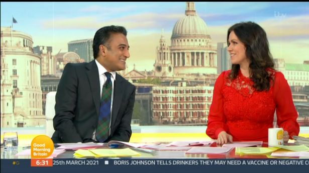 Good Morning Britain host Adil Ray returned to the show Thursday morning