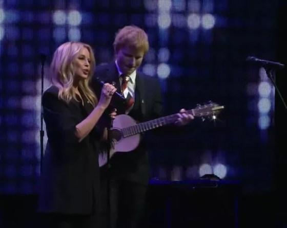 Kylie Minogue and Ed Sheeran
