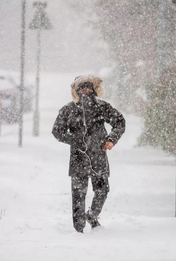Blizzard in Kirkliston, West Lothian