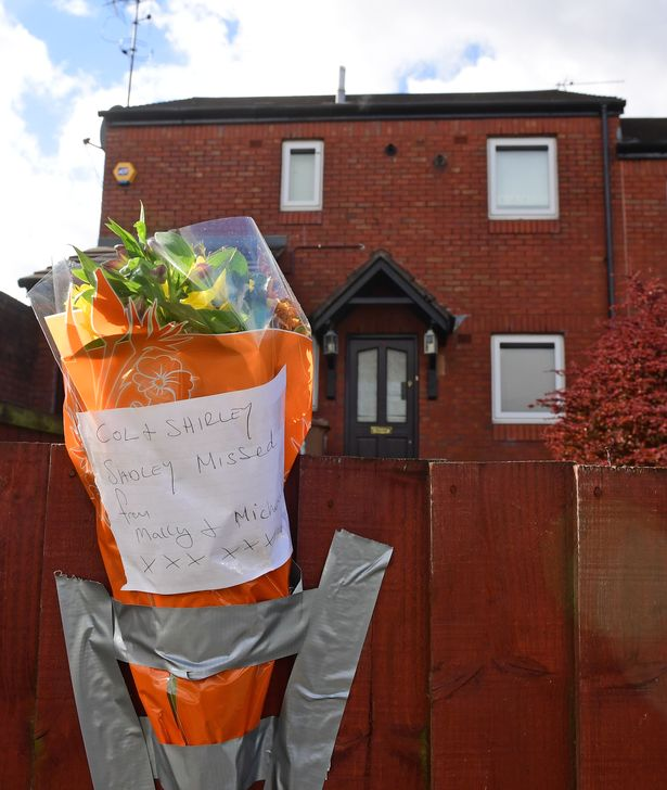 Tributes left at the scene in St Helens
