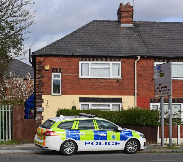 Merseyside Police scene on Southport Road, Bootle.