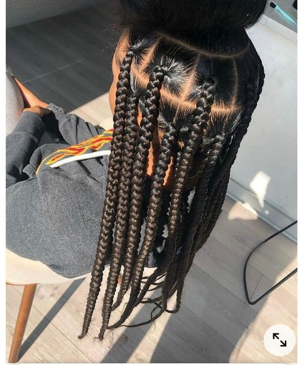 Single braids like this can take hours