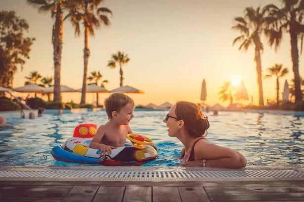 Family having fun on vacation