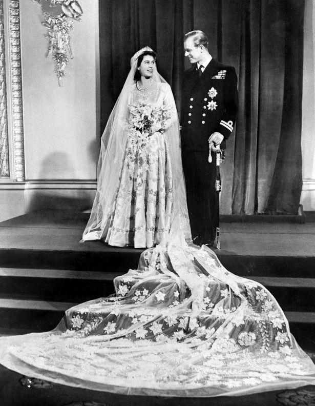 Then-Princess Elizabeth and Philip, Duke of Edinburgh in November 1947