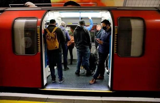 People on a Tube train