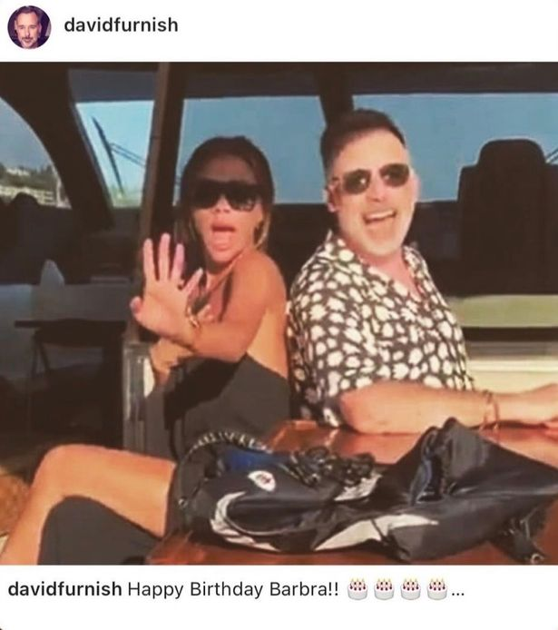 David Furnish posted a snap from his family vacation with Elton with the Beckhams