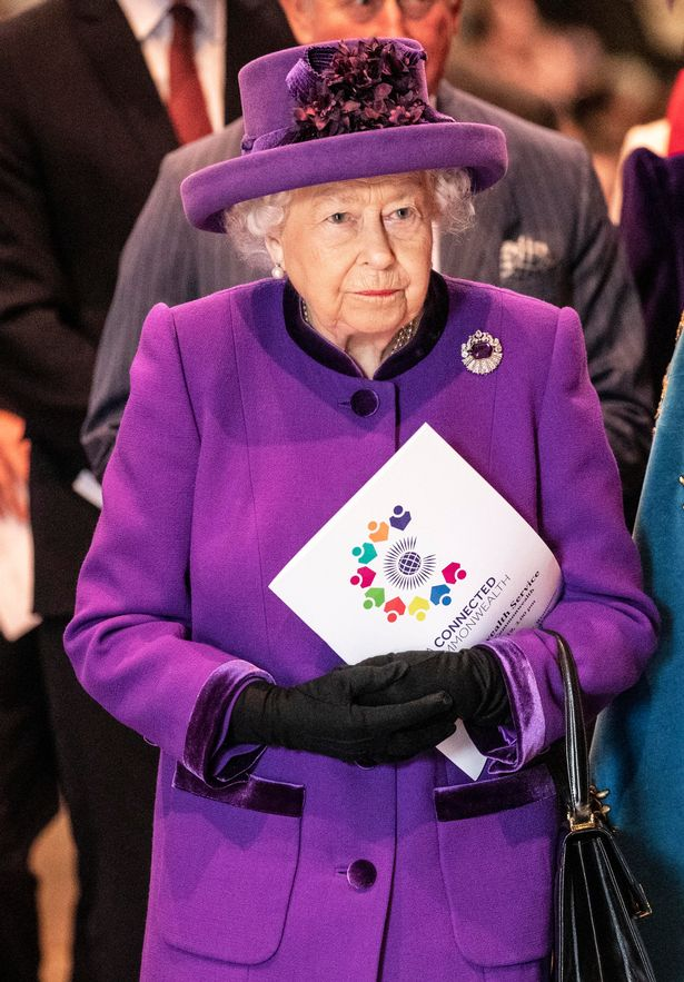 Queen Elizabeth II at the Commonwealth Service at Westminster Abbey, London.