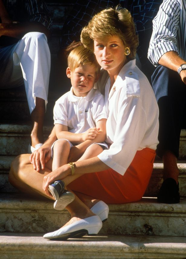 Diana with Harry