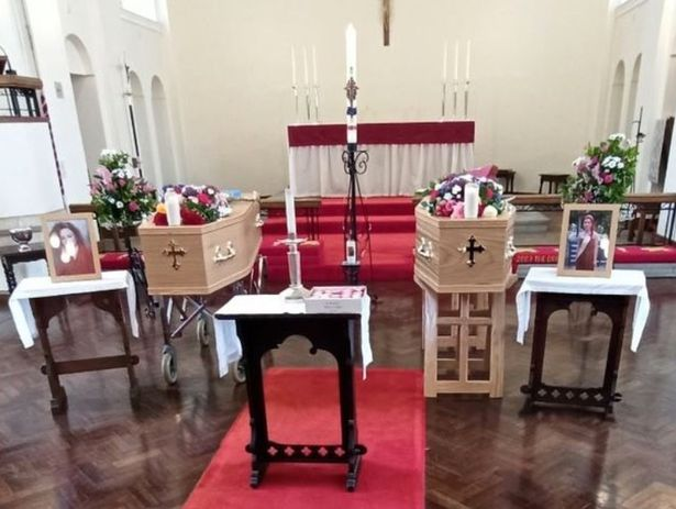 A double funeral was held for Rhianne and Jeanette.