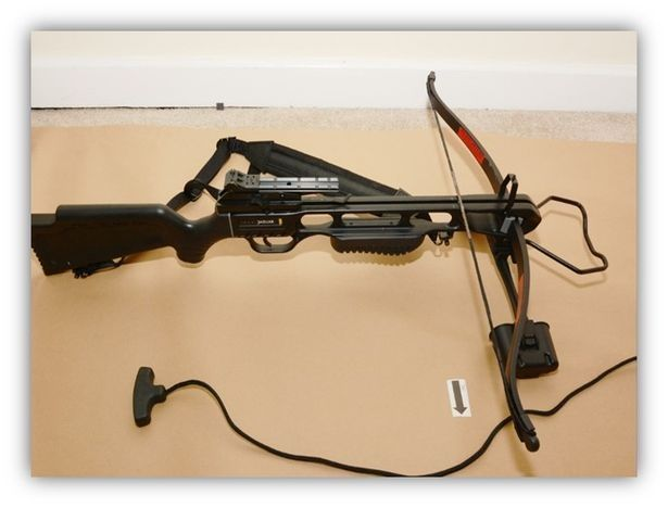 The crossbow used to murder Shane Gilmer
