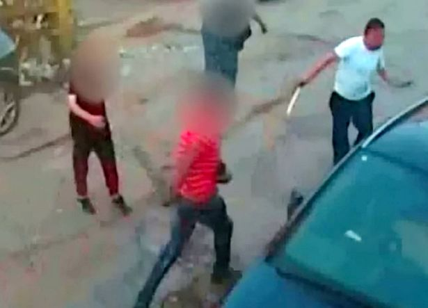 Mohammed armed himself with a machete but soon fled the scene