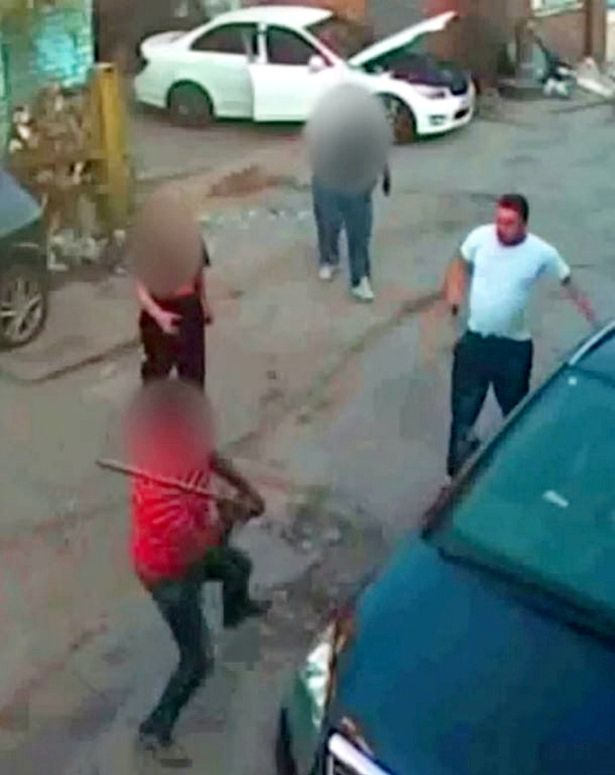 The brave worker used a plank of wood to fight off Haiwa Ezzeddine Mohammed
