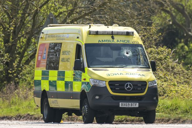 An object pierced the ambulance's windscreen, killing Mr Daw and injuring his colleague