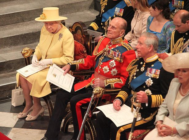 Queen and Prince Philip at Kate's wedding