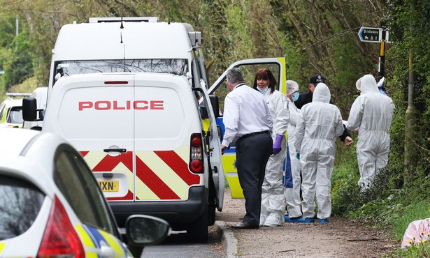 Police forensic in snowdon near dover where a woman WPC SO dead body was found