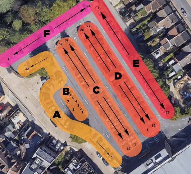 Gareth Wild's parking spaces guide to Bromley Sainsbury's car park