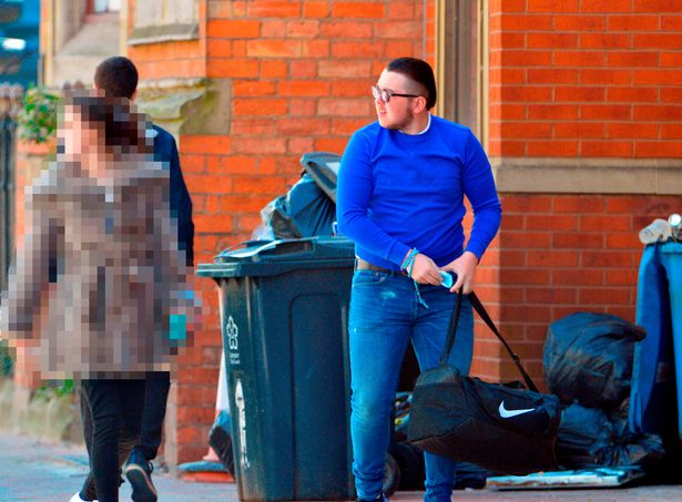 Thomas Connors arrives at Leicester Magistrates' Court.